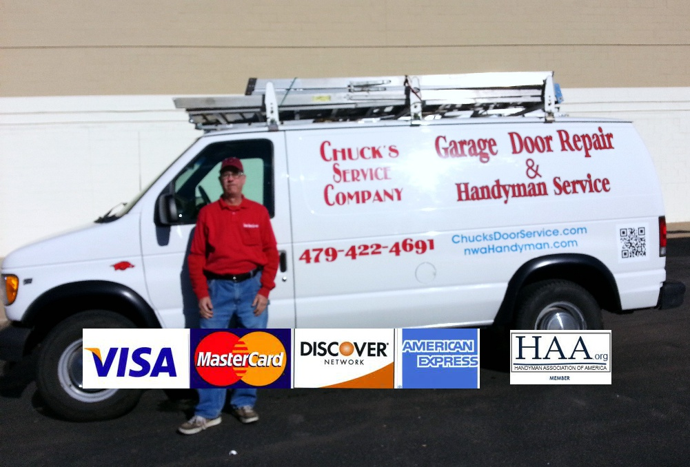 Chucku0027s Service Company, 479 422 4691, Is A Fayetteville, AR Garage Door  Repair Service Operating In Fayetteville, Springdale, Farmington, Prairie  Grove, ...